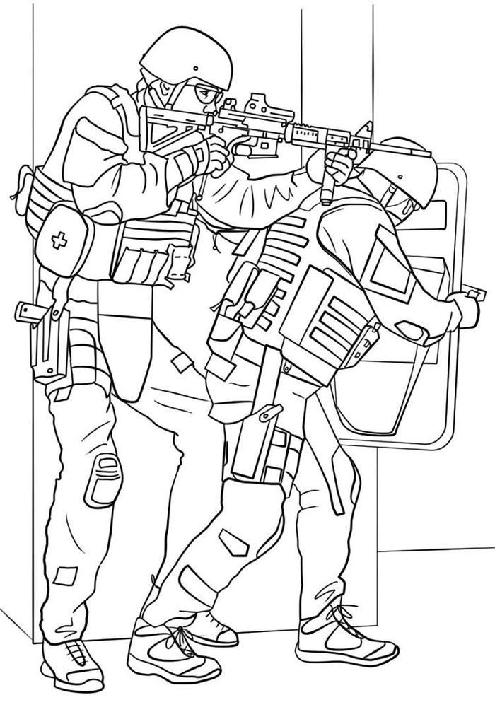Army Coloring Pages Battlefield