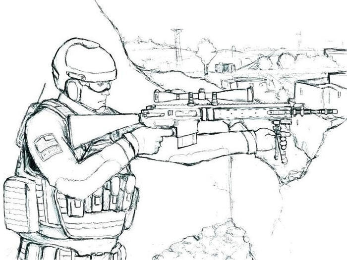 Army Coloring Pages For Adults