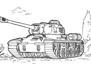 Army coloring pages tank