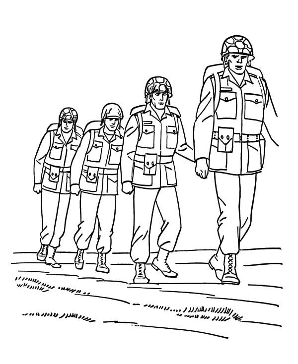 Army Forces Coloring Pages