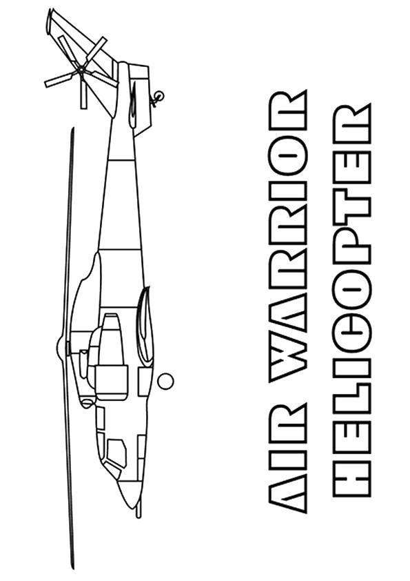 Army Helicopter Coloring Pages To Print