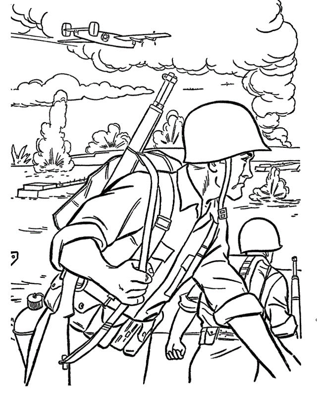 Army Military Soldier In The Civil War Coloring Pictures
