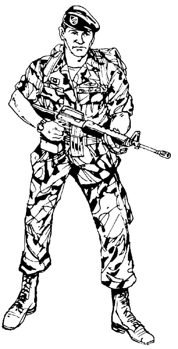 Army Ready To Attack Coloring Pages