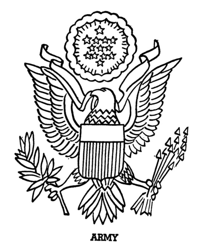 Army Symbol And Logo Coloring Pages