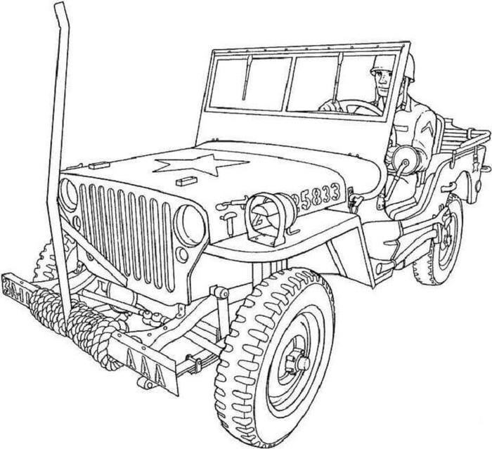 Army Truck Coloring Pages 1