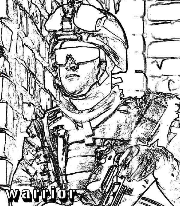 Army Warrior Coloring Pages