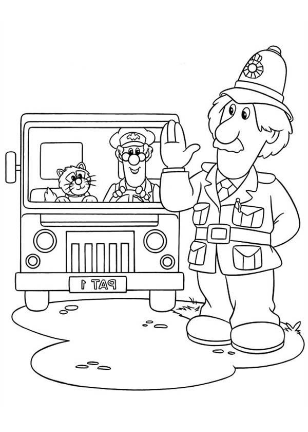 Arthur shelby say hi to postman pat coloring pages