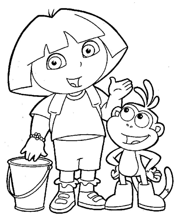 Ask The Question Dora Printable Coloring Pages