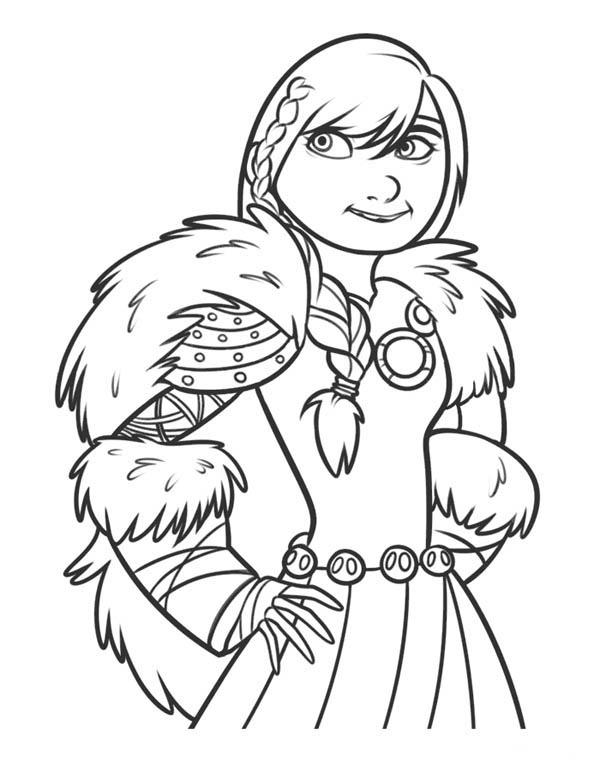 Astrid Is So Beautiful In How To Train Your Dragon Coloring Pages