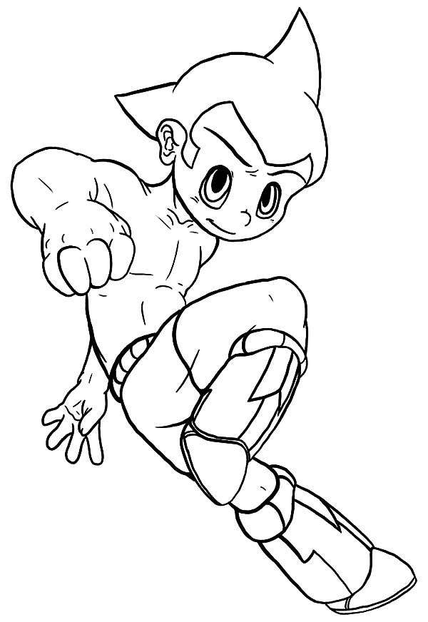 Astro Boy Lands Coloring Pages