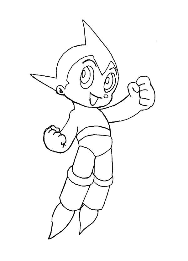 Astro Boy Smiling Coloring Pages