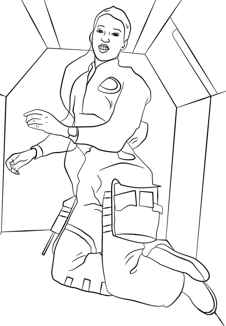 Astronaut Coloring Pages For Girls