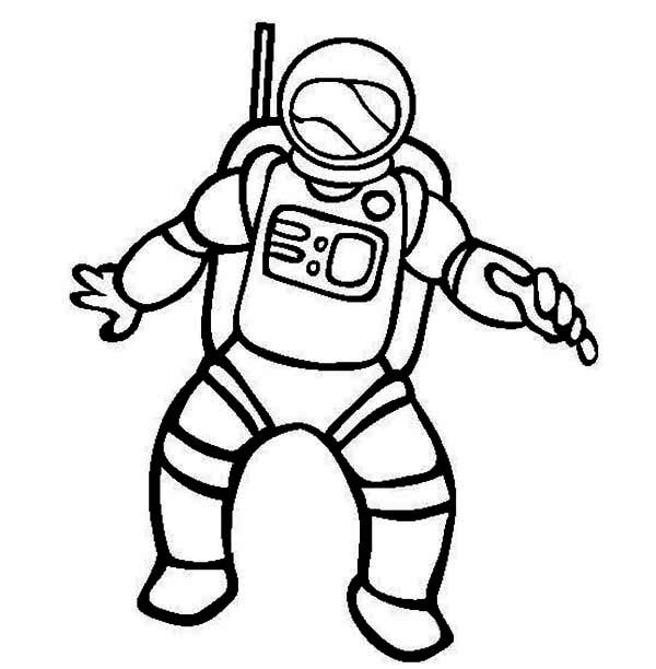 Astronaut Coloring Pages For Toddler