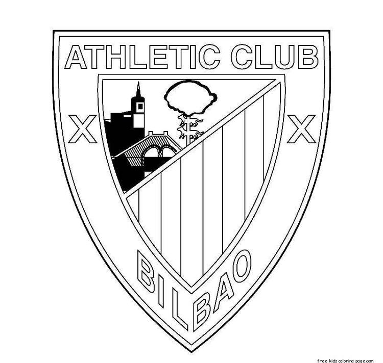 Athletic Bilbao Soccer Logo Coloring Pages
