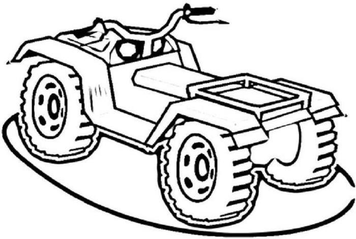 Atv Bike Coloring Pages