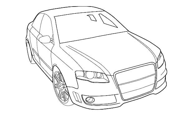 Audi Cars Coloring Pages For Kids