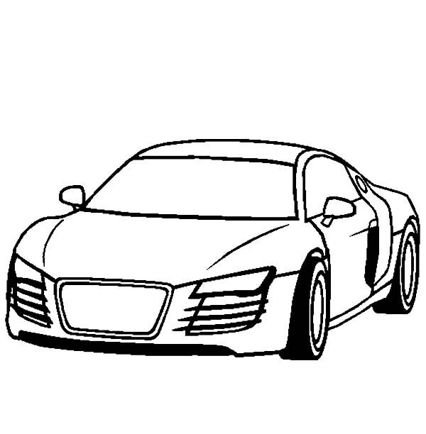 Audi Cars R4 Coloring Pages