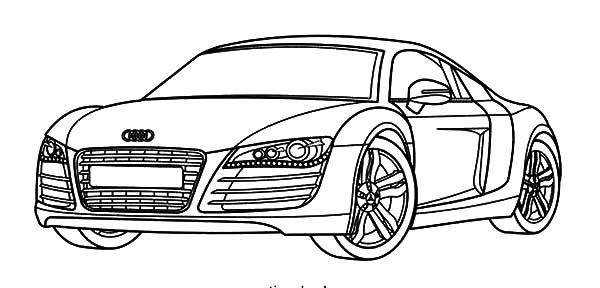 Audi Cars R8 Series Coloring Pages