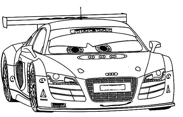 Audi Cars R8 Sport Coloring Pages