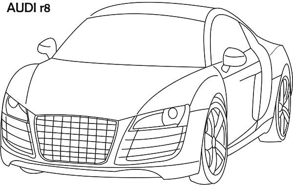 Audi Cars Sedan R8 Coloring Pages