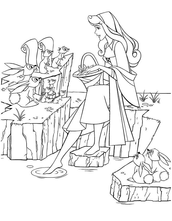 Aurora Coloring Pages And Forest Animals