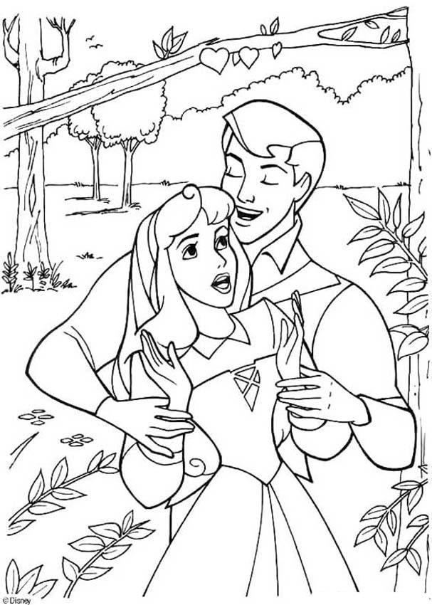 Aurora Coloring Pages In The Forest