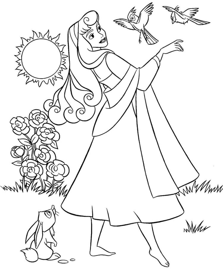 Aurora Coloring Pages With Forest Animals