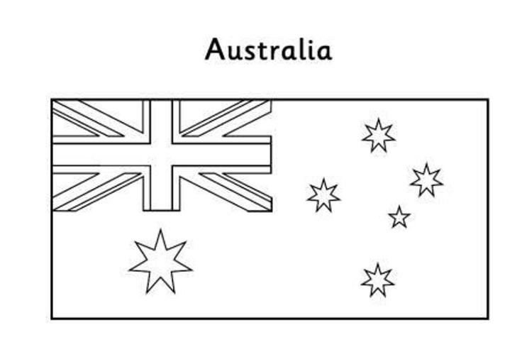 Australian Flag Coloring Page Free