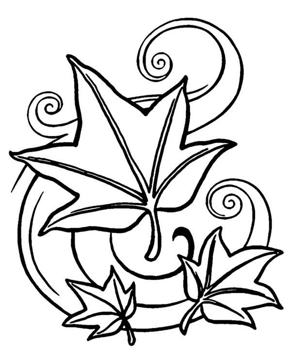 Autumn Leaves Art Coloring Pages