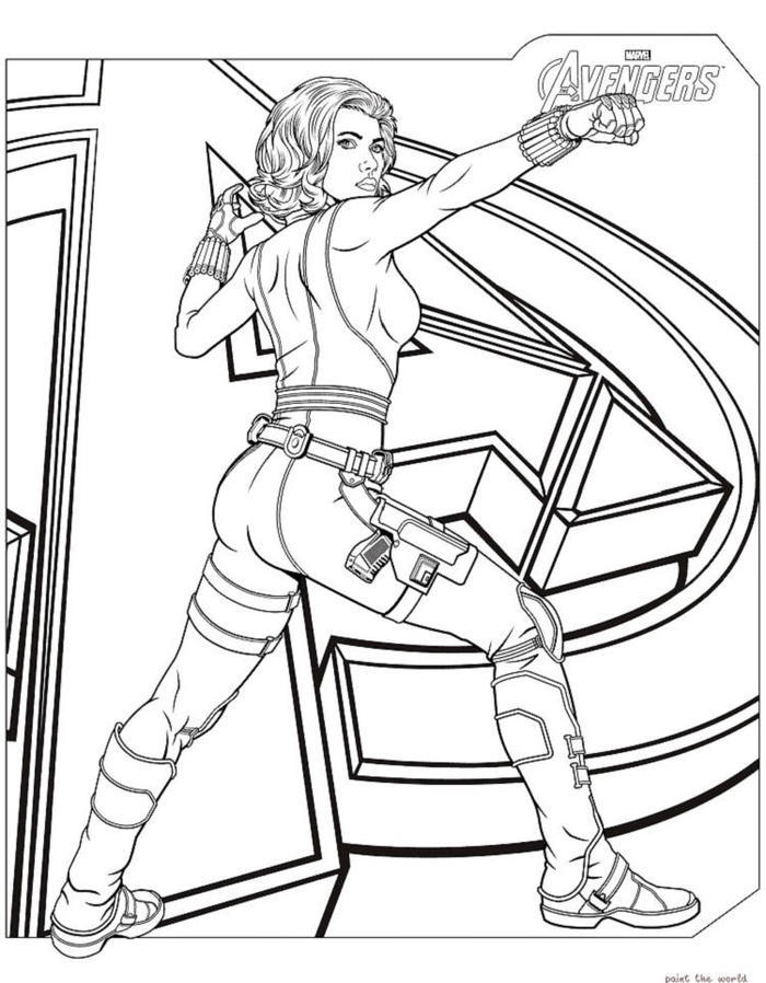 Avenger Black Widow Coloring Pages