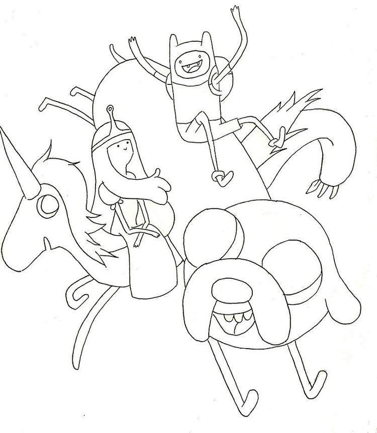 Awesome Adventure Time Coloring Pages