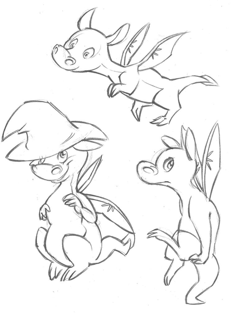 Awesome Baby Dragon Coloring Pages