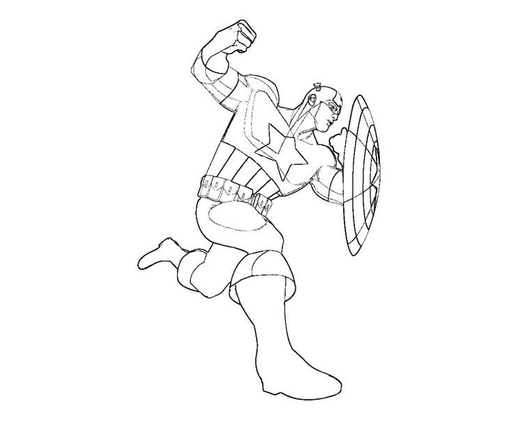Awesome captain america coloring pages for kids