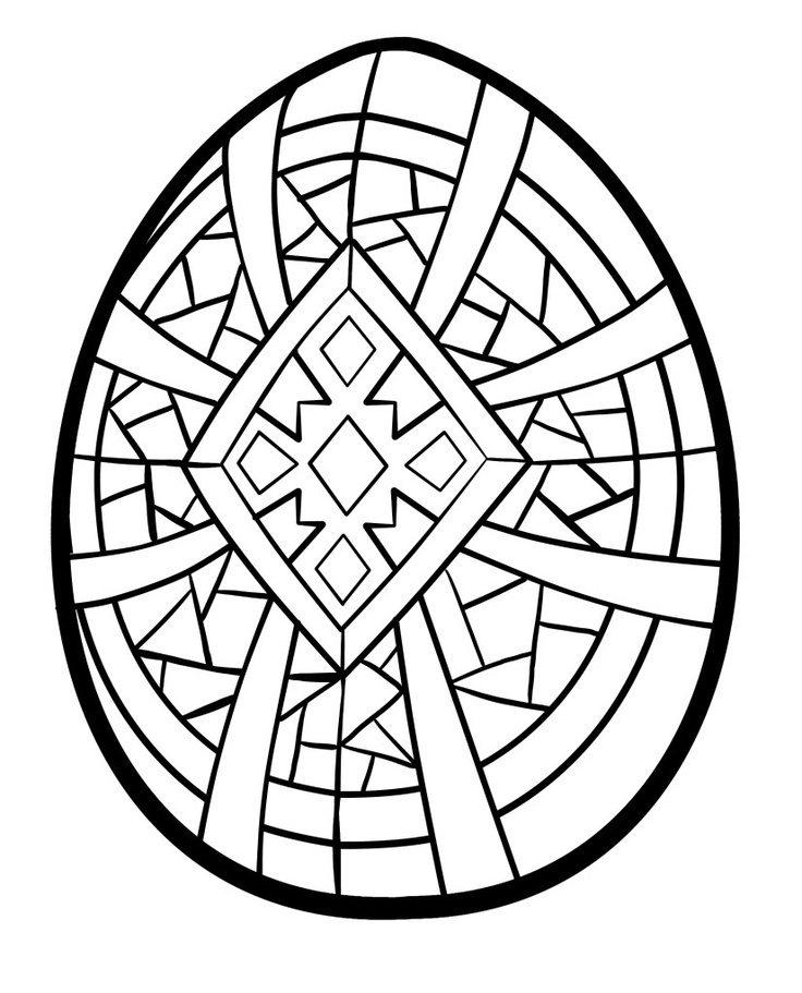 Awesome Craft Easter Coloring Pages Eggs