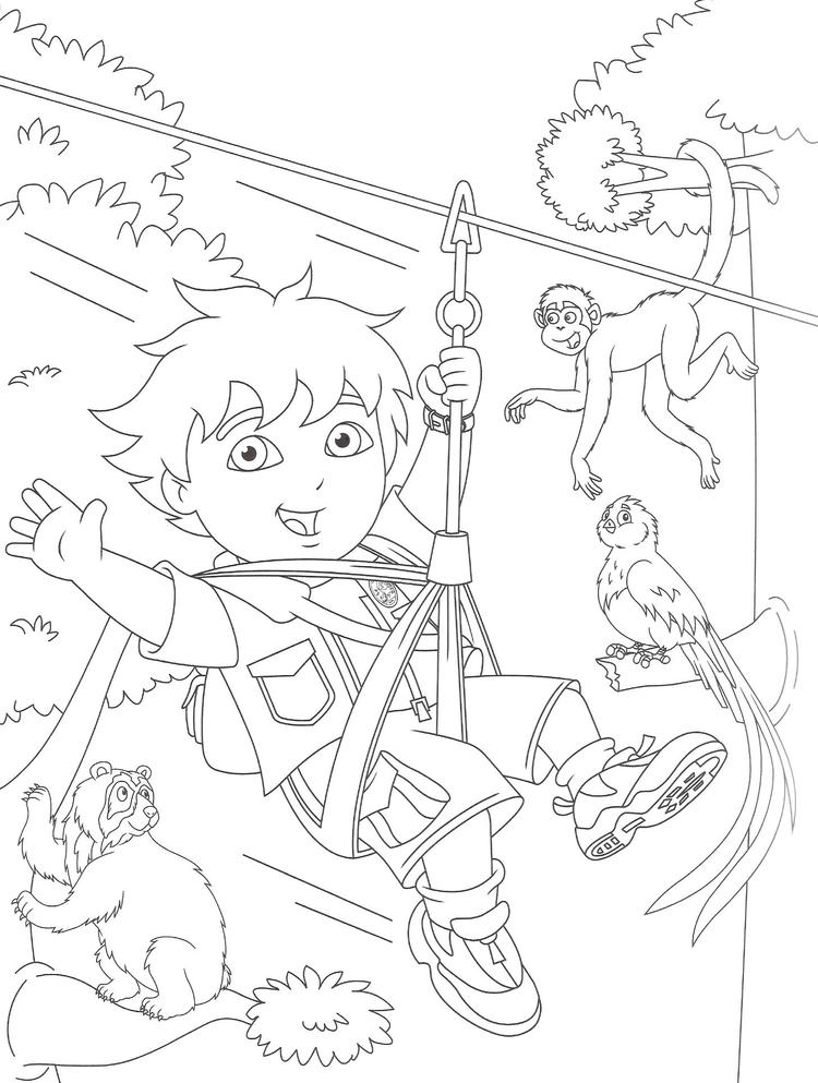 Awesome Diego Coloring Pages Free Printable