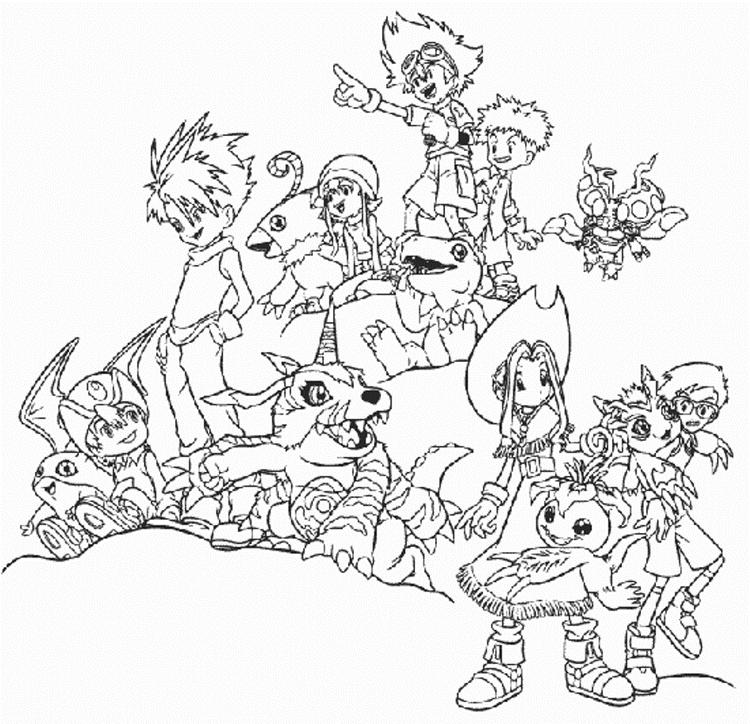 Awesome Digimon Coloring Pages