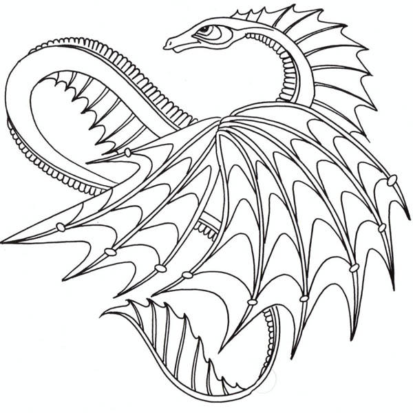 Awesome Dragon From How To Train Your Dragon Coloring Pages