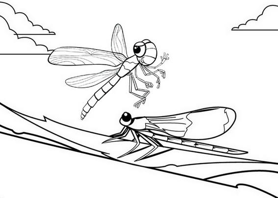 Awesome Dragonfly Coloring Page For Kids
