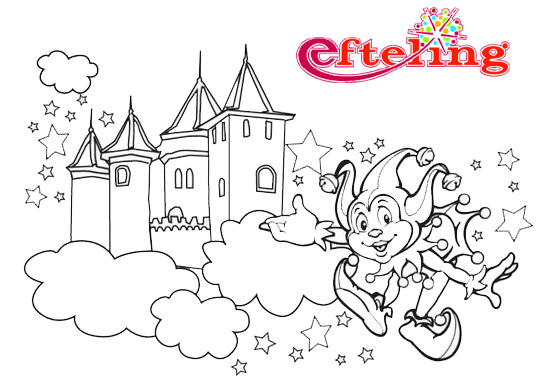 Awesome Efteling Haunted Castle Coloring Pages 1