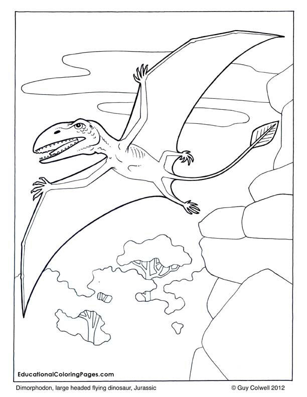 Awesome Flying Dinosaurs Coloring Pages