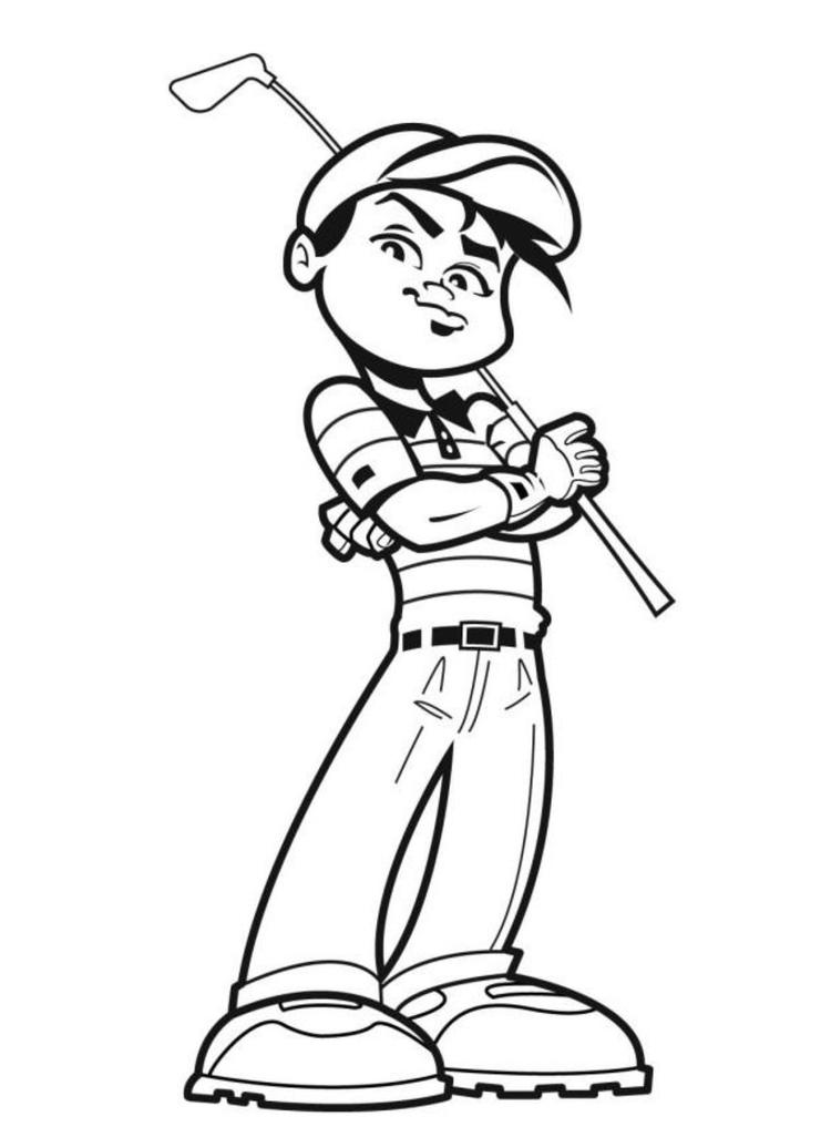 Awesome Golfer Sports Coloring Pages