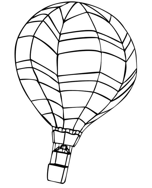 Awesome hot air balloon coloring pages