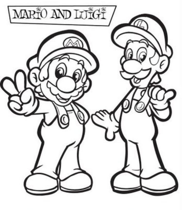 Awesome Luigi And Mario Bros Coloring Pages