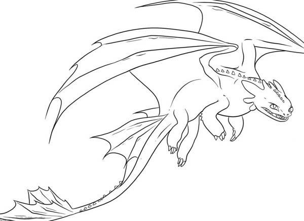 Awesome Night Fury Drawing In How To Train Your Dragon Coloring Pages