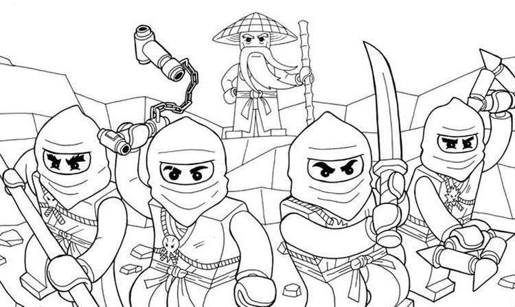 Awesome Ninjago Coloring Pages