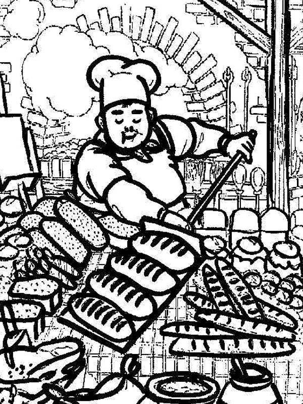 Awesome Picture Of Bakery Chef Coloring Pages