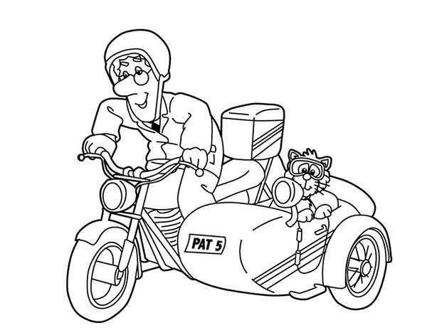 Awesome Picture Of Postman Pat Coloring Pages
