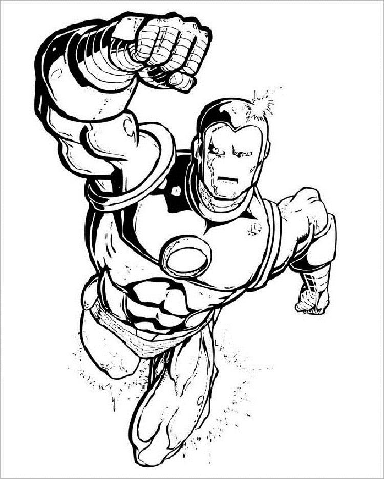 Awesome Superhero Coloring Pages