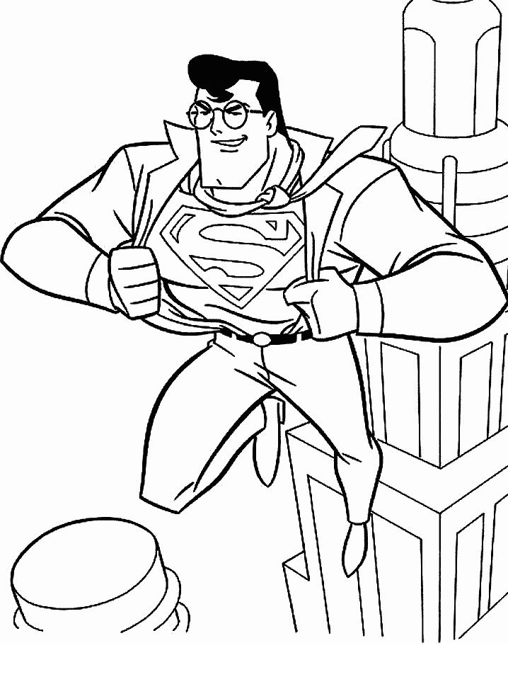 Awesome Superman Coloring Page For Kids
