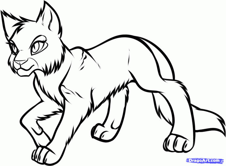 Awesome Warrior Cat Coloring Pages